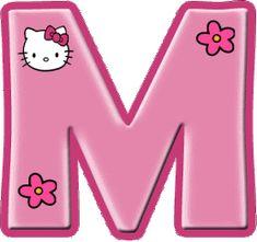 Alfabeto de Hello Kitty con letras grandes. | Oh my Alfabetos! Hello Kitty Rosa, Hello Kitty Themes, Pink Hello Kitty, Hello Kitty Birthday Theme, Alphabet Letters Design, Panda Art, Unicorn Invitations, Hello Kitty Collection, Hello Kitty Wallpaper