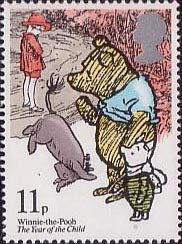The Year of the Child 11p Stamp (1979) Winnie-the-Pooh (A.A.Milne)