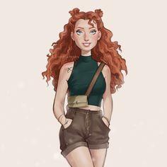 Disney Princess Merida, Disney Princess Outfits, Disney Princess Drawings, Disney Princess Pictures, Disney Rapunzel, Arte Disney, Disney Fan Art, Disney Drawings, Disney Outfits