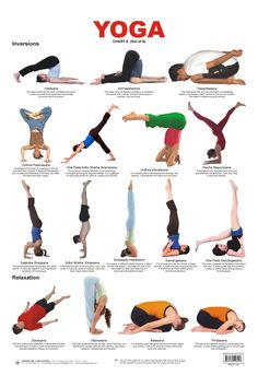 Yoga Inversions \ yoga chart: inversions and their benefits #yogahandstand #yogainversions