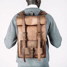 Johnny Fly Co. Leather Rolltop Backpack