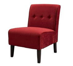Classic design meets modern appeal in this superbly comfortable upholstered chair. Substantial, durable padding and a sturdy hardwood frame makes for long lasting utilization. The mix of fabric, butto