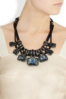 Lanvin Swarovski rope necklace.. TDF