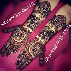Rose Mehndi Designs, Dulhan Mehndi Designs, Henna Tattoo Designs, Mehendi, Mehndi Design Pictures, Mehndi Images, Arabic Henna, Beautiful Mehndi, Hennas