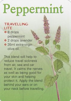 for travel sickness try this....