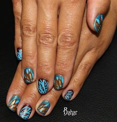 leaf design - Nail Art Gallery by NAILS Magazine