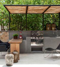 3 churrasqueiras sob medida para espaços gourmet. Fotos publicadas na revista Arquitetura & Construção.