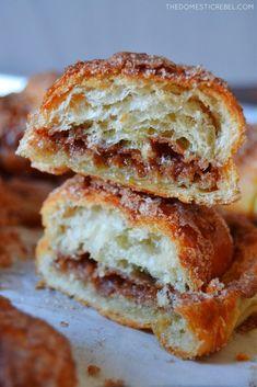 The BEST Churro Croissants Butter Croissant, Croissant Recipe, Bake Croissants, Yummy Treats, Sweet Treats, Pumpkin Cheesecake Bars, Breakfast Pastries, No Bake Pies
