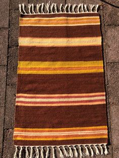 Your Daily Dose of Inspiration! Handwoven rug by Sarah Garcia, wool on wool warp. Enjoy!