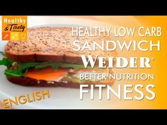 Healthy Low Carb Sandwich Fitness (English) | Healthy&Tasty by Weider - YouTube