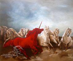 """red Unicorn"" Acrylic on Canvas 120 cm x 100 cm"