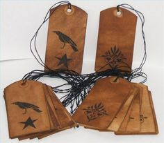 How To Make Primitive Grungy Hang Tags - great tutorial and very easy to make.  These would make great tags for gifts or for product descriptions (if you sell merchandise).  Oodlekadoodle Primitives