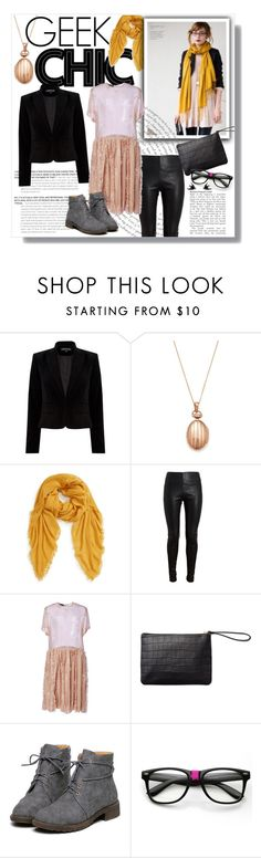 """""""Fashion Geek"""" by clovers-mind ❤ liked on Polyvore featuring Warehouse, Monica Rich Kosann, BP., Balenciaga, Rochas, Graphic Image, Wolf & Moon and ontrend"""