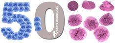 цифры из салфеточных цветов. Можно взять салфетки или тишью, вырезать по форме брюдца, чтобы круги довольно крупными были