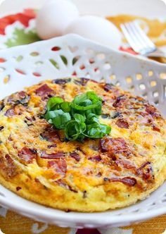 The Comfort of Cooking » Country Frittata with Ham, Cheddar and Basil
