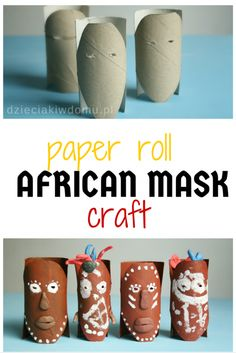 african mask craft idea for kids (Diy Paper Mask) Projects For Kids, Diy For Kids, Gifts For Kids, Fun Gifts, Craft Gifts, Kwanzaa, Diy Gifts Paper, Diy Paper, Paper Crafts