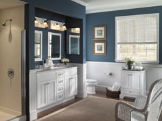 """""""In small spaces, like a bathroom, a color palette change will immediately transform the space. Switching out bath linens regularly can be a fun way to introduce new patterns and colors in to your design scheme."""" —Sabrina Soto, author of Sabrina Soto Home Design"""
