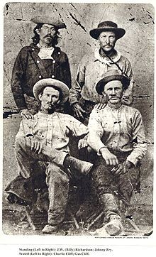 """Pony Express riders (c. 1860). Dangerous and difficult work - riders needed to be touch and lightweight. Famous advertisement for riders read: """"Wanted: young, skinny, wiry fellows not over eighteen. Must be expert riders, willing to risk death daily. Orphans preferred""""."""