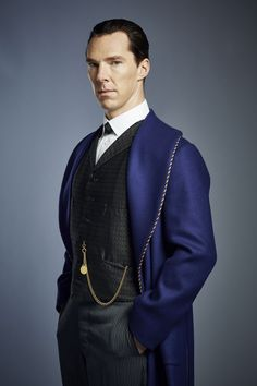 SHERLOCK (BBC/PBS) ~ Sherlock Holmes (Benedict Cumberbatch) in the pre-Season 4 special, SHERLOCK: THE ABOMINABLE BRIDE, which premieres January 1, 2016 on BBC and PBS.