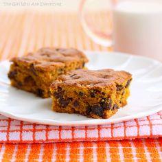 Pumpkin Chocolate Chip Squares