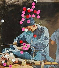 collage--the surgeon. Hmmm I know the appendix is somewhere in there. Collages, Robert Rauschenberg, Joan Mitchell, Photomontage, Mixed Media Collage, Collage Art, Collage Ideas, Illustrations, Illustration Art