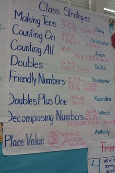 Addition number talk
