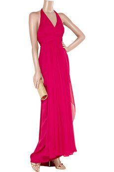 NOTTE BY MARCHESA  Silk-chiffon halterneck gown $440