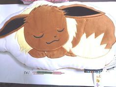 Pokemon Center Eevee Evoli cushion  Plush Doll .with the bonus item.From Japan #PokemonCenter
