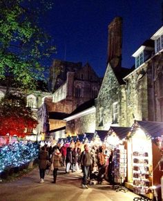 Winchester Christmas Market, UK  ice rink outside the Cathedral... may visit parking is a nightmare.