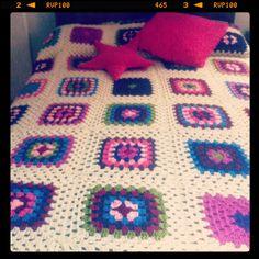 Patchwork wool blanket. #lovemama #DIY