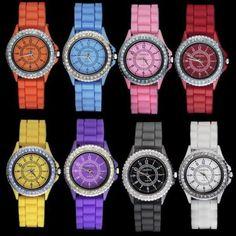 Fashion Jelly Quartz Unisex Silicone Wrist Watch