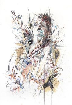 Carne Griffiths Water Color Painting