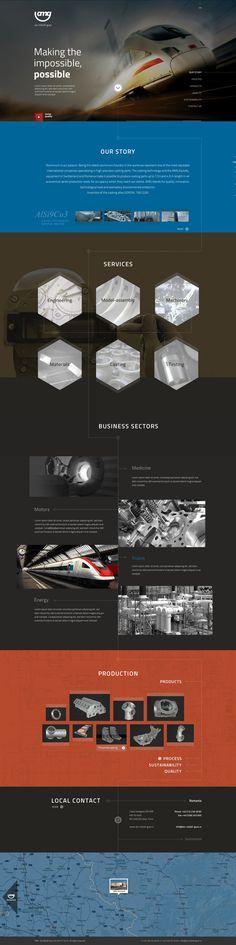 AMG Switzerland - Website Redesign by Vissio , via Behance