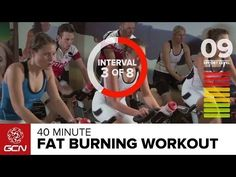 Fat Burning Workout - 40 Minute Indoor Cycling Class - YouTube