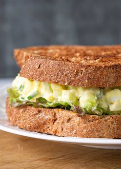 Apr 2020 - Here's how to make a classic egg salad sandwich! All you need are chopped hard boiled eggs, green onion, celery, mayonnaise and a dash of curry powder. Serve on toasted bread for lunch. Easy Egg Salad, Easy Salad Recipes, Egg Recipes, Light Recipes, Lunch Recipes, Bread Recipes, Egg Salad Sandwiches, Sandwich Recipes, Simply Recipes