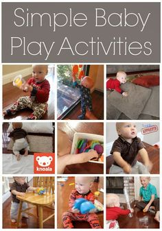 Simple Play Activities for Babies {Knoala App} - Toddler Approved!