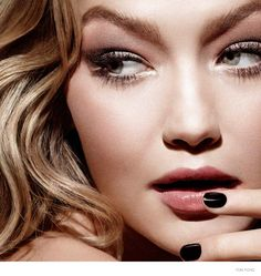 Gigi Hadid is once again fronting a Tom Ford campaign. For this round, Hadid is the face of Ford's Flawless Complexion makeup collection. Gigi Hadid, Bella Hadid, Beauty Makeup, Face Makeup, Makeup Ads, Clean Makeup, Ford Foundation, Foundation Stick, Makeup Foundation