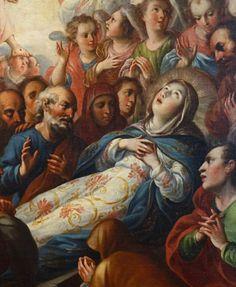 El Tránsito de la Virgen, detalle. Obra de Antonio de Torres, 1719. Óleo sobre lienzo. #mexico #mextagramers #mextagram #mexigers…