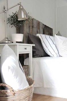 Idea para hacer un cabecero de cama rustico.