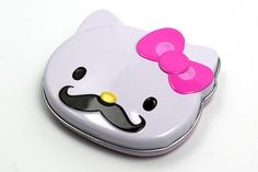 Hello Kitty Sweet 'Staches | candy mustaches - Yo @Lori Aaron-Brass, I hereby request that you buy these for you and Lil B the next time she does something noteworthy!
