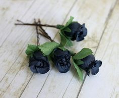 Navy Blue Rosebuds Hair Pins. Flower Hair Clip. Bridesmaids. Rustic Wedding. Woodland. Hair Accessories, Spring, Bridal, Wedding.