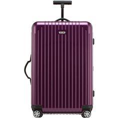 "Rimowa North America Salsa Air 26"" Multiwheel Upright (4.450 NOK) ❤ liked on Polyvore featuring bags, violet, zipper bag, lock bag, zip bags, purple bag and handle bag"