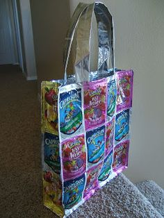 diddle dumpling: Juice pouch tote bag