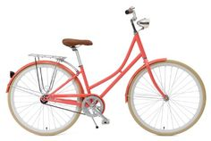 Critical Cycles Dutch Style Step-Thru 1-Speed Hybrid Urban Commuter Road Bicycle, Coral, Large/44cm