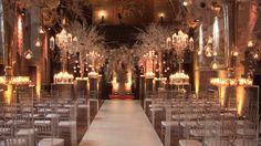 Wedding lighting in warm white UPLIGHTING