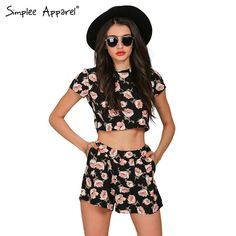 Simplee Apparel Boho floral print women jumpsuit romper Summer casual short playsuit Girls elegant two piece sexy ovaralls