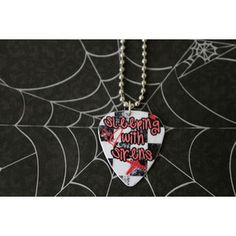 Sleeping with Sirens Guitar Pick Necklace