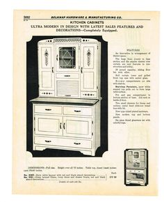 Kitchen Cabinets Catalog this is a true hoosier cabinet, because it has a flour dispenser