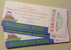 Cruise boarding pass.   -Enjoy the Journey