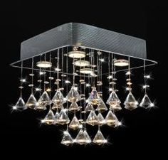 @Overstock - The Chorus square ceiling chandelier is decorated with elegant crystal cones. This chandelier also offers a chrome finish, a 14-inch height, a steel base and a five-light design.http://www.overstock.com/Home-Garden/Chorus-5-light-Chrome-and-Crystal-Square-Chandelier/6551164/product.html?CID=214117 $127.79